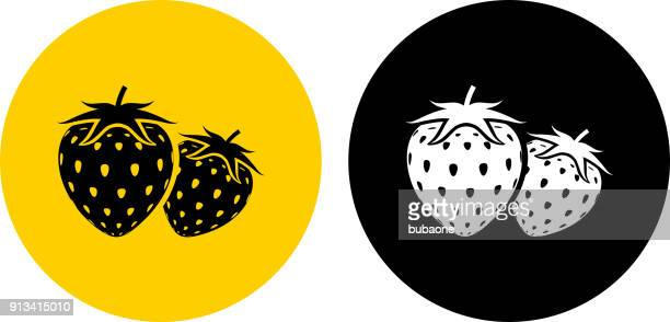 two strawberries. - antioxidant stock illustrations, clip art, cartoons, & icons