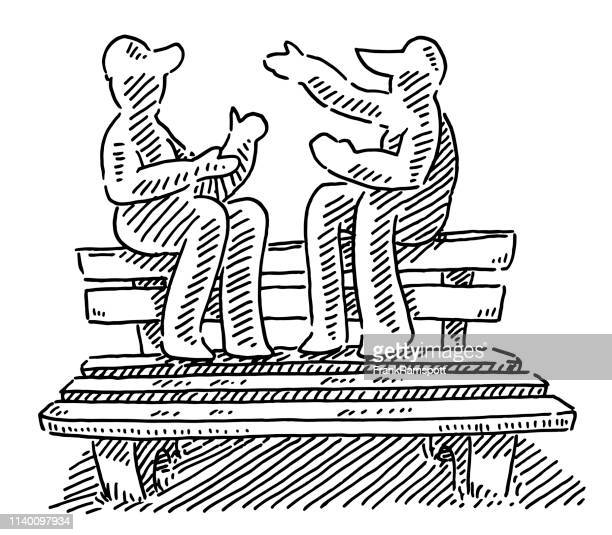 Talking People Park Drawing Stock Illustrations Getty Images