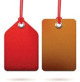 Two textured tags