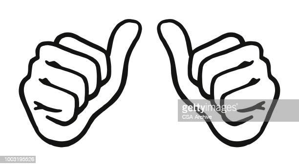 two thumbs up - thumb stock illustrations