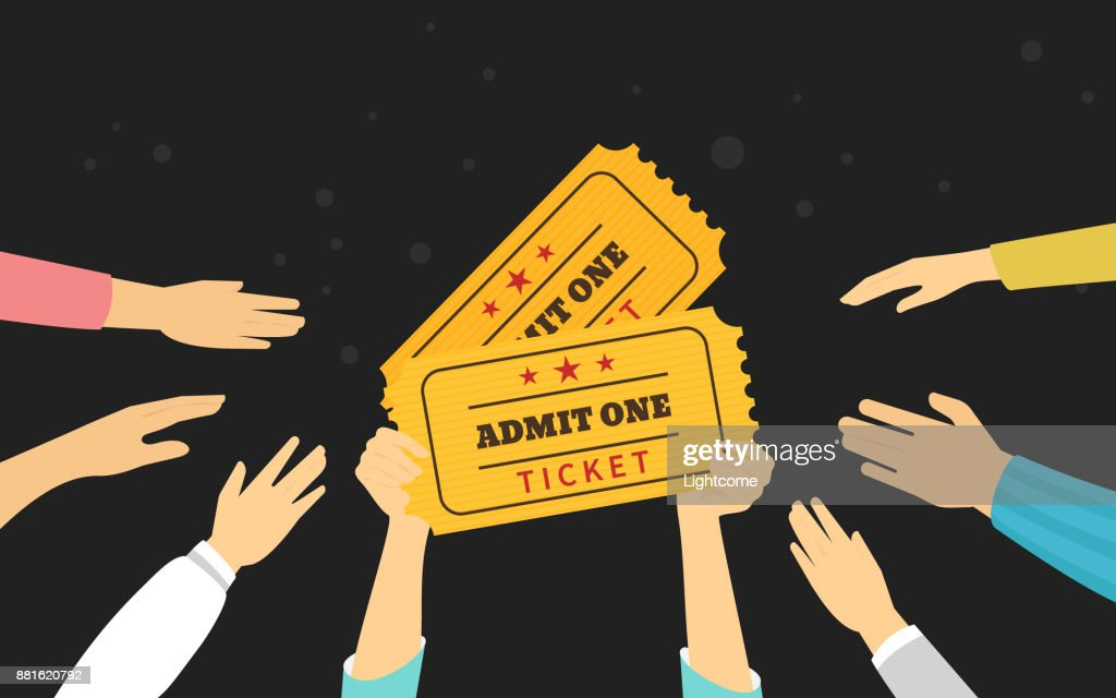 Two tickets symbol concept vector illustration