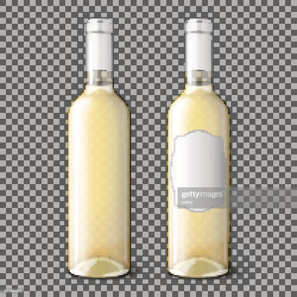 Two transparent realistic with place for your design and branding