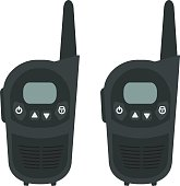 Two travel portable mobile radio set devices. No outline