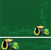 Two vector backgrounds for St. Patrick's Day