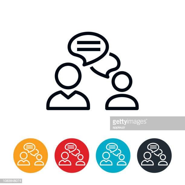 two way chat icon - discussion stock illustrations