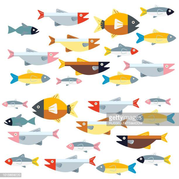 two way traffic - fish stock illustrations