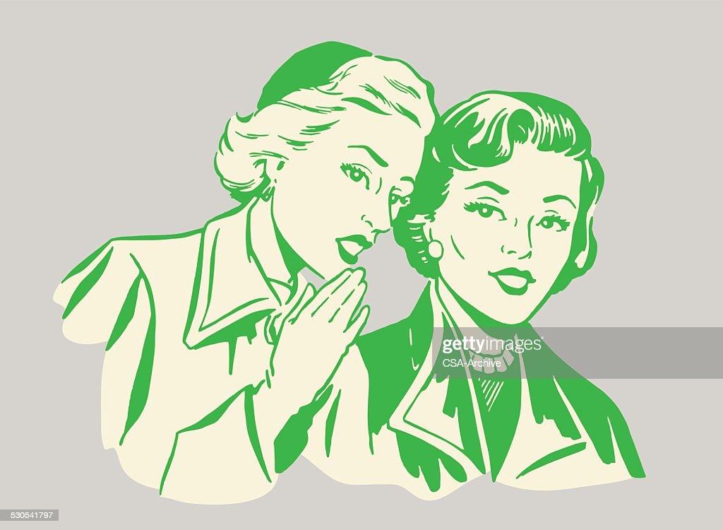 Two Women Talking : stock illustration