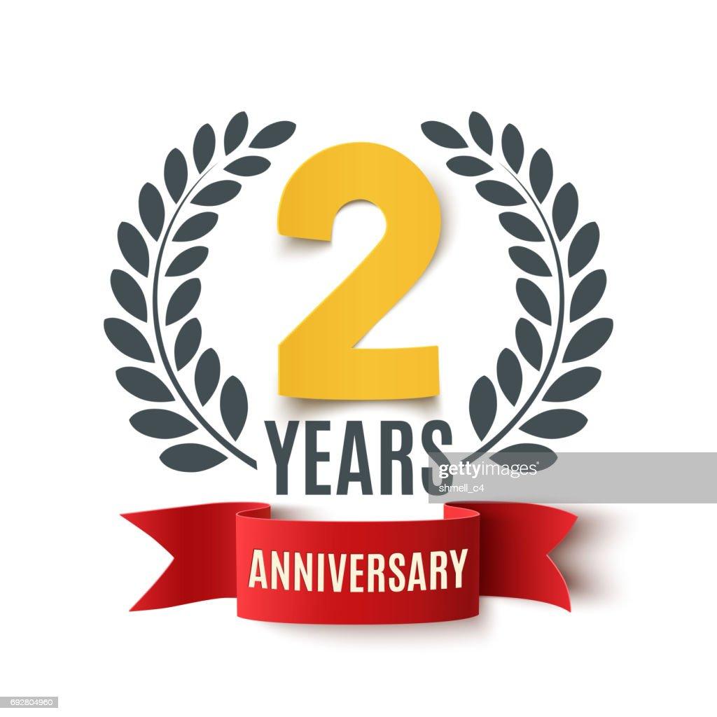 Two years anniversary design.