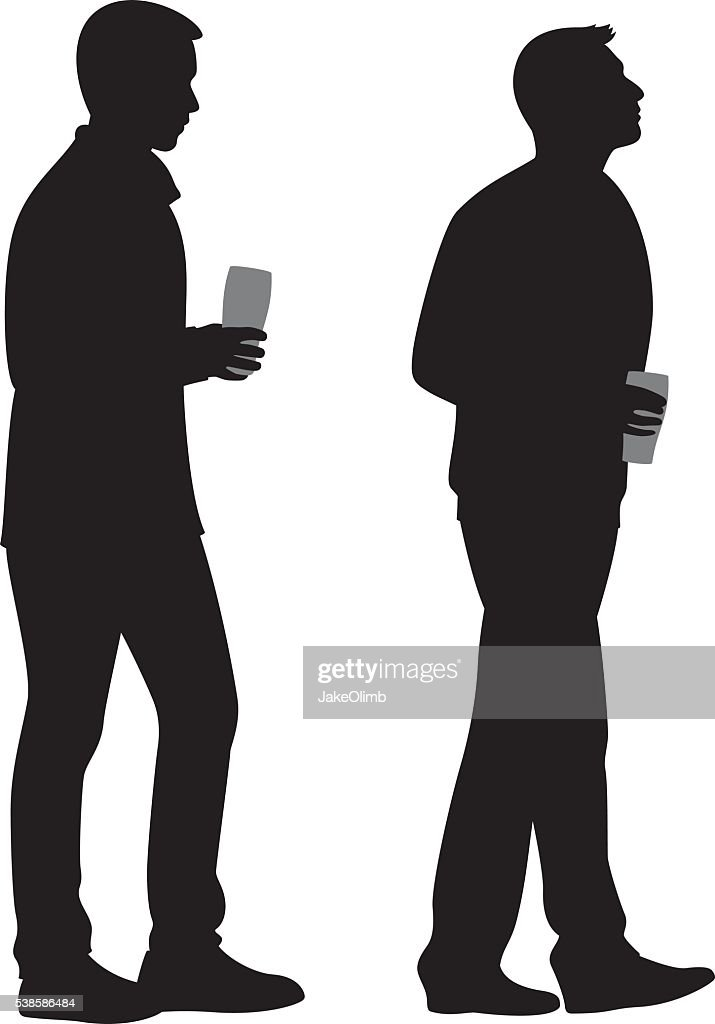 Two Young Men Holding Beers Silhouettes