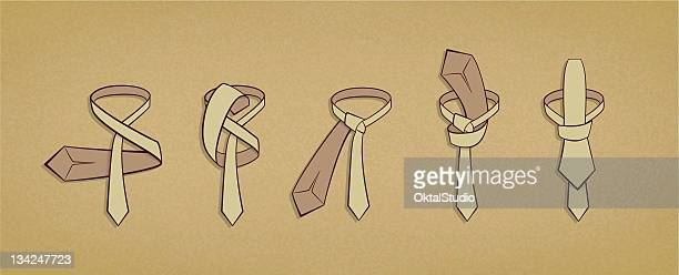 tying a tie - tied up stock illustrations