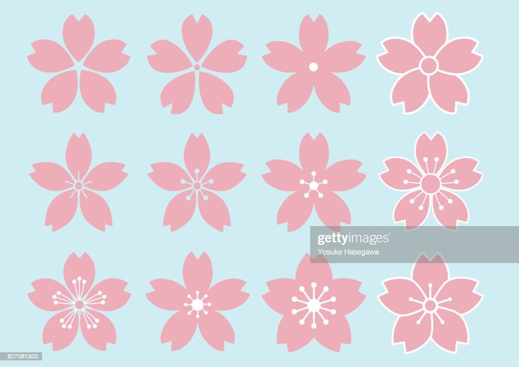 12 type of Cherry Blossom flower design