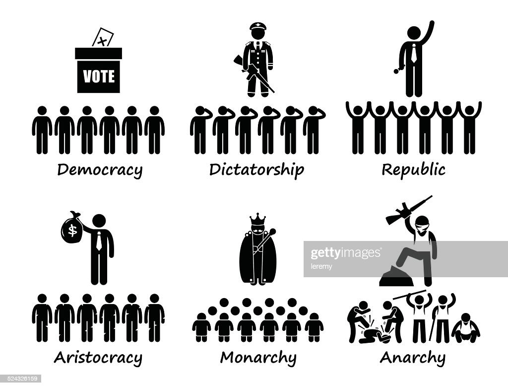 Type of Government Cliparts Illustrations Concept