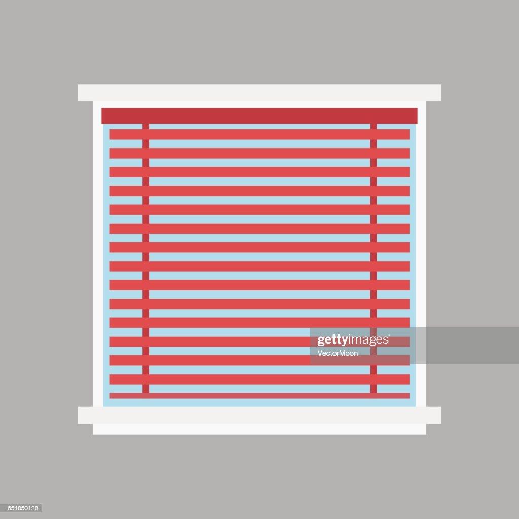Haus Fenster Jalousie Elementtyp Isoliert Flachen Stil Inländischen ...