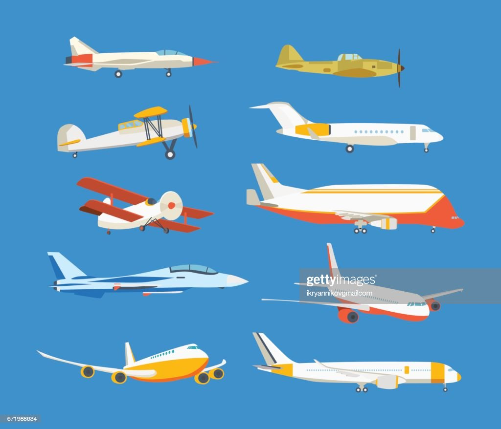 Types of airplane passenger, civil, airbus, military, biplane, airplane high-rise