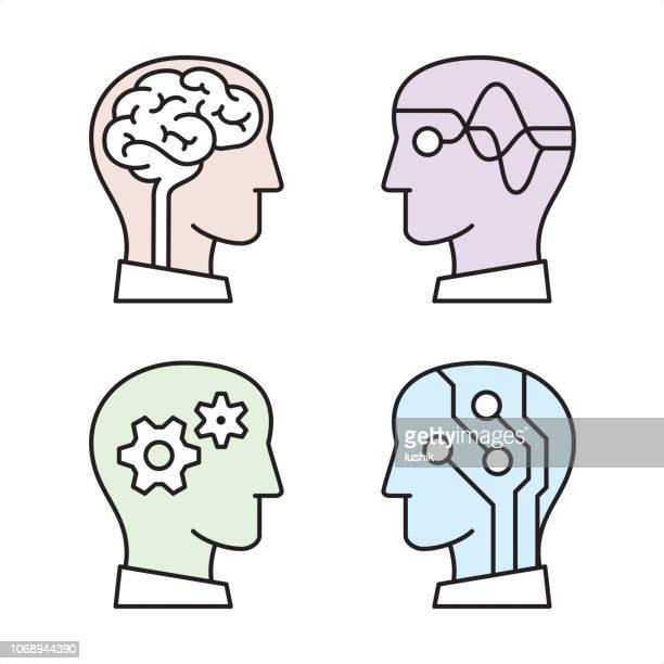 types of artificial intelligence - neuroscience stock illustrations