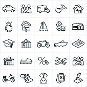 Types of Loans Icons