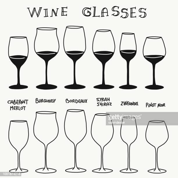 types of red wine glasses - glazed food stock illustrations, clip art, cartoons, & icons