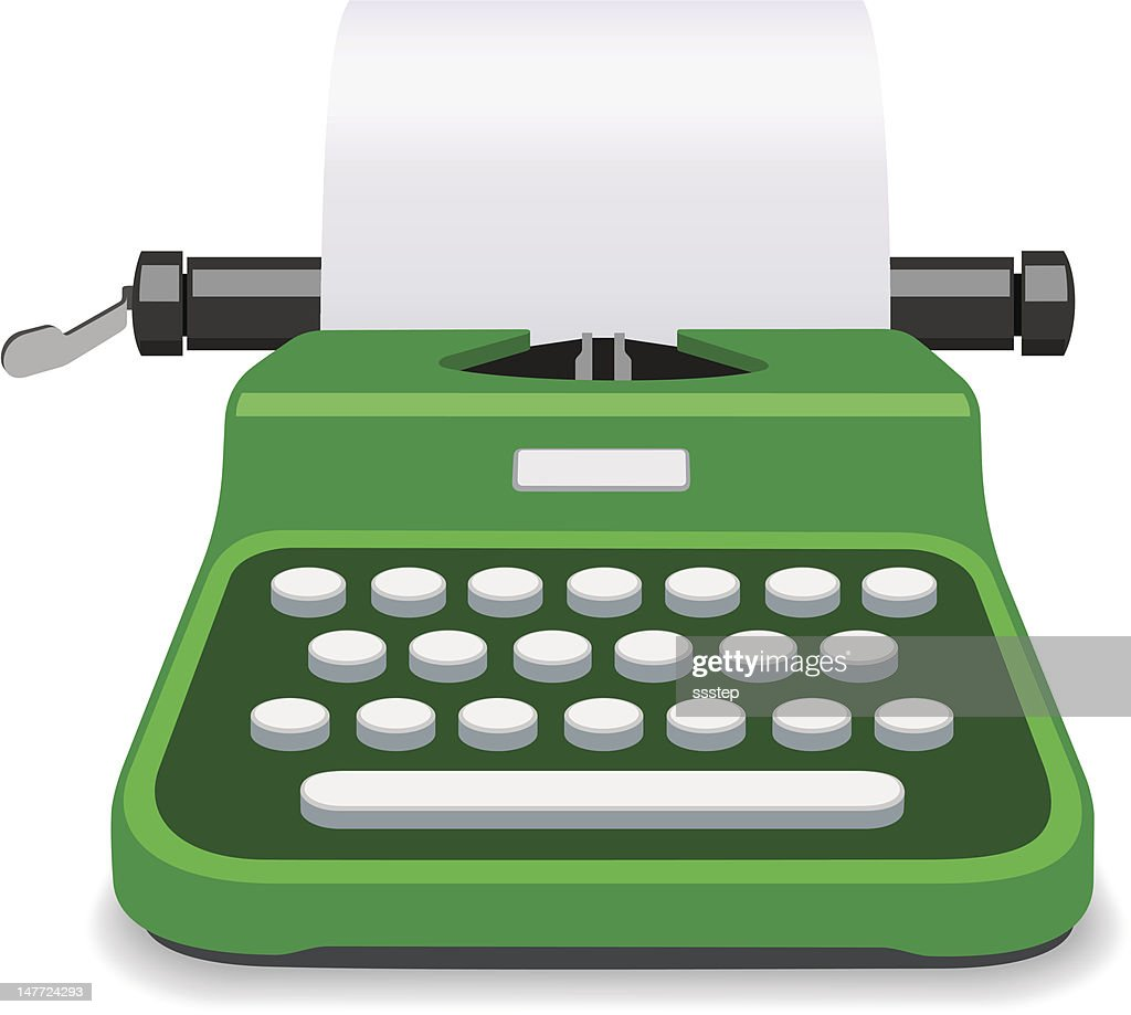 Typewriter Green Vector