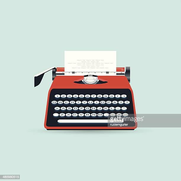 ilustraciones, imágenes clip art, dibujos animados e iconos de stock de máquina de escribir - escribir