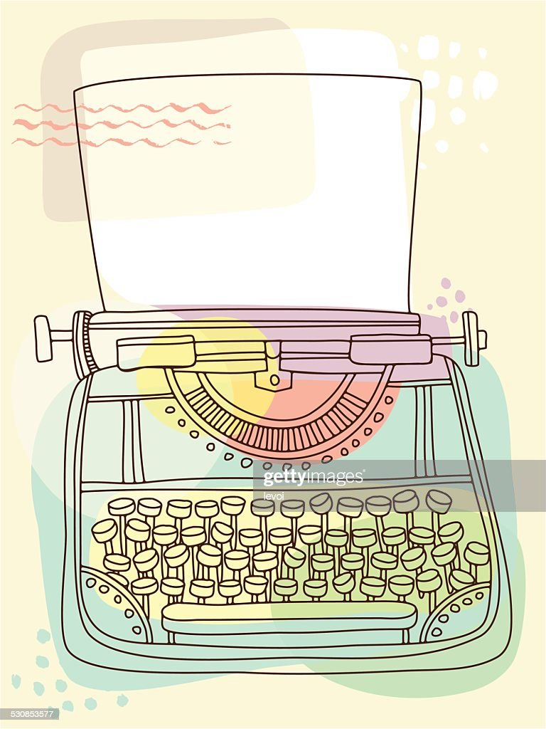 Typewriter — vector illustration