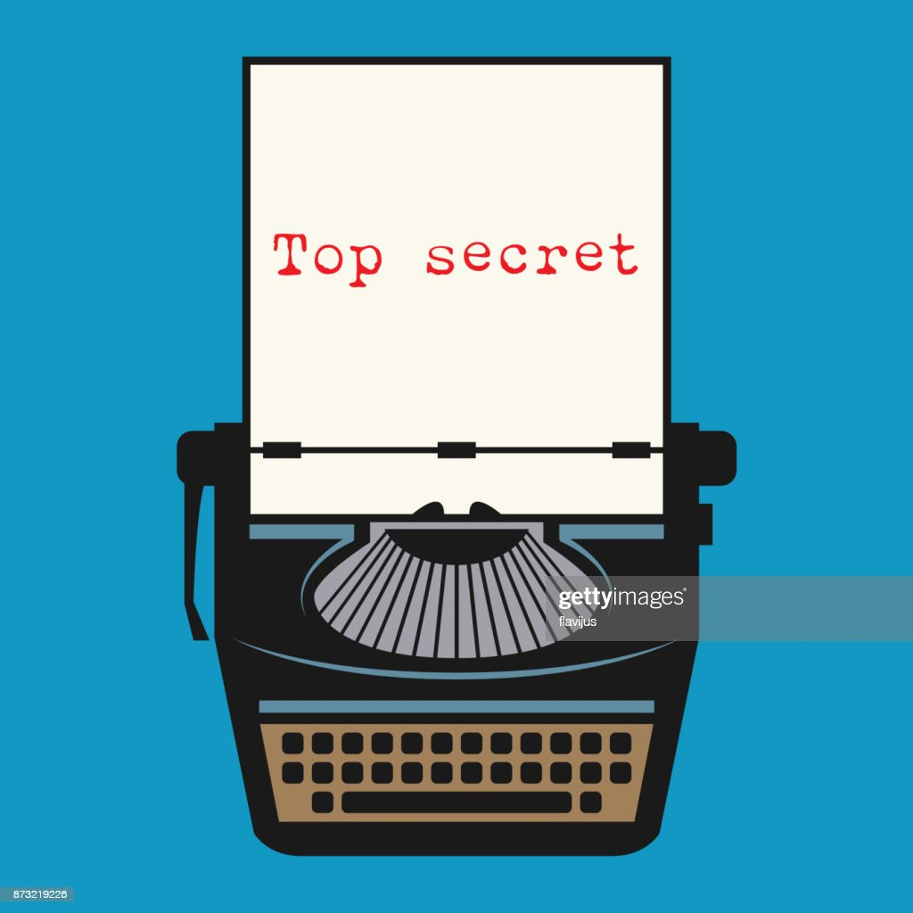 Typewriter with text Top secret
