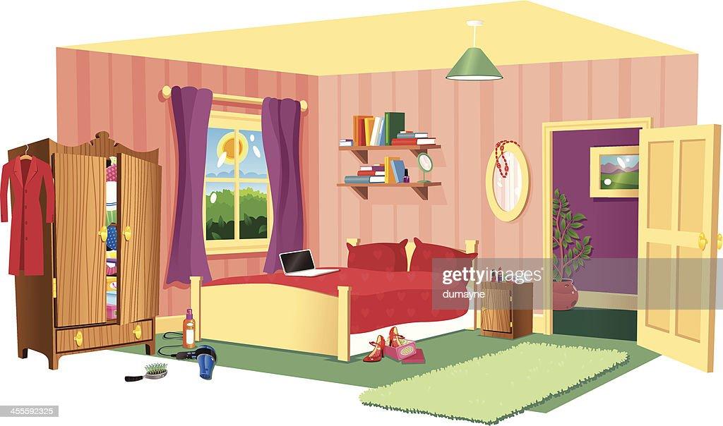 Typical bedroom scene