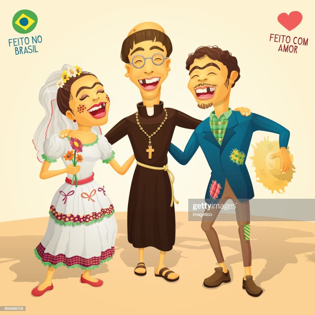 Typical brazilian June Party wedding