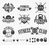 Typographic Fitness Emblems