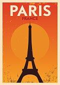 Typographic Paris City Poster Design