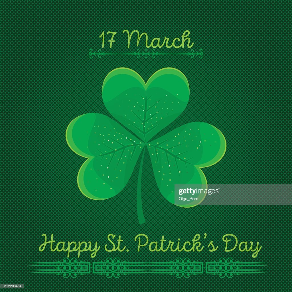 Typographic Saint Patricks Day Background Vector Design Greetings