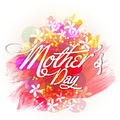 Typographical background for Mother's Day celebration.
