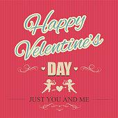 Typographical banner Happy Valentine's Day