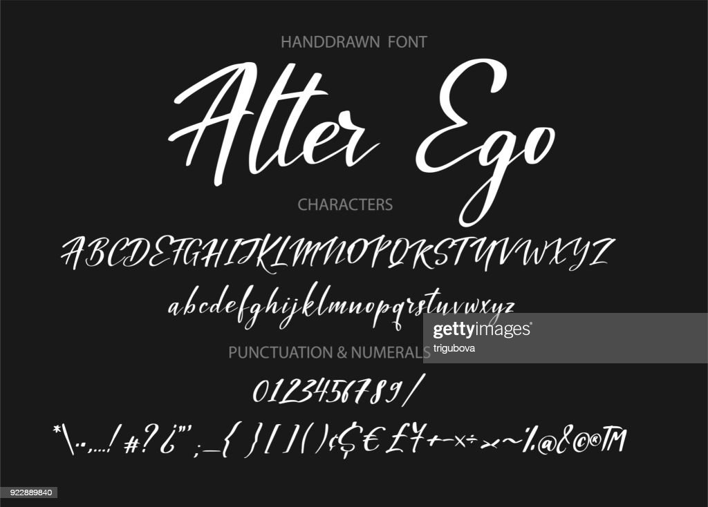 Typography alphabet for your designs symbol, typeface, web banner, card, wedding invitation