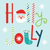 Typography holly Jolly design