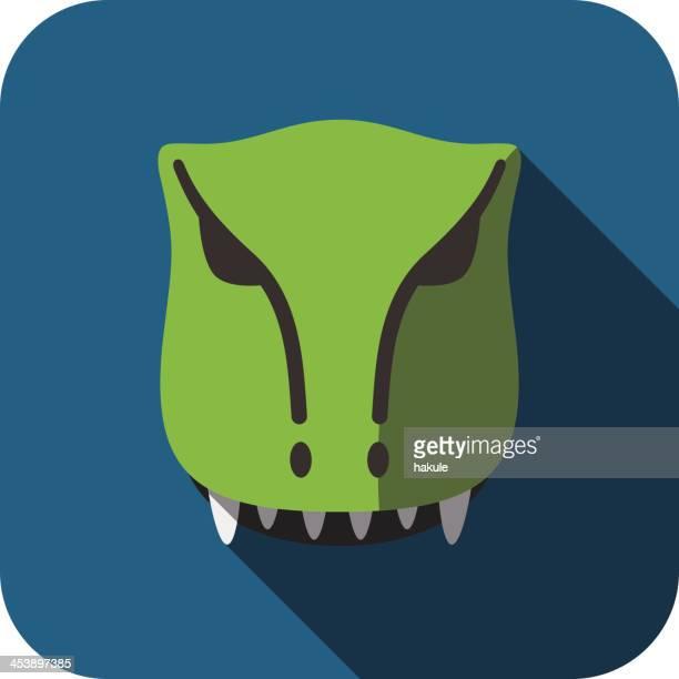 Tyrannosaurus Rex Dinosaur animal face flat design