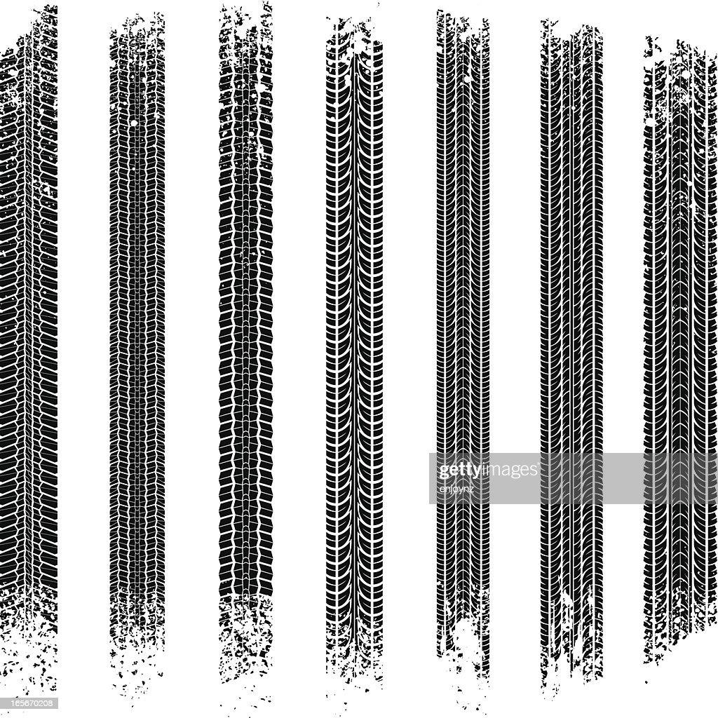 Tyre tracks : stock illustration