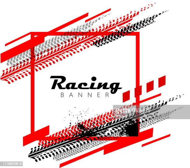 tyres square - sports race stock illustrations