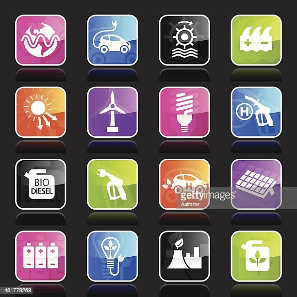 ubergloss icons - alternative energy - biodiesel stock illustrations, clip art, cartoons, & icons