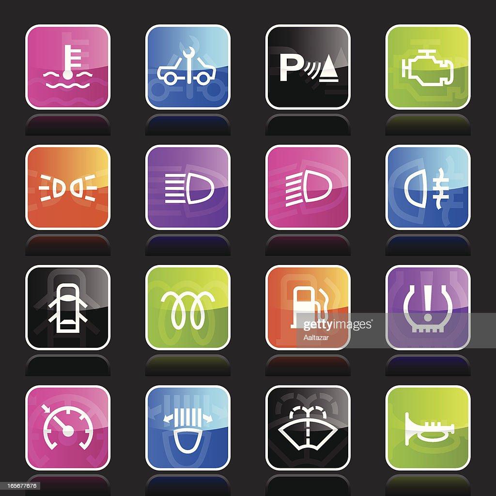 Ubergloss Icons - Car Control Indicators : stock illustration