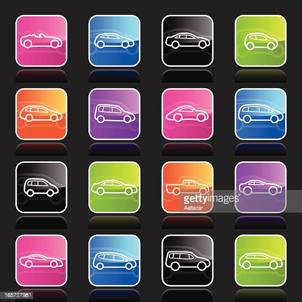 ubergloss icons -  cars outlines - hatchback stock illustrations, clip art, cartoons, & icons