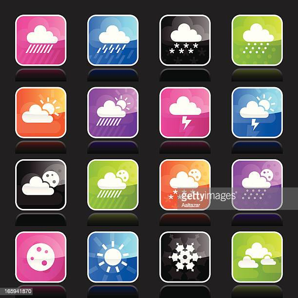 ubergloss icons - weather - hailstone stock illustrations, clip art, cartoons, & icons