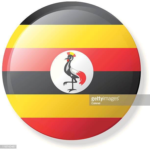 uganda lapel flag - uganda stock illustrations, clip art, cartoons, & icons