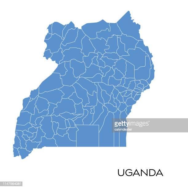 uganda map - uganda stock illustrations, clip art, cartoons, & icons