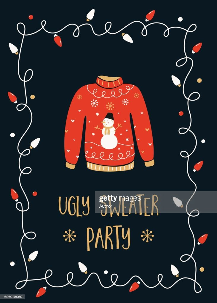 Ugly Sweater Party Invitation Card
