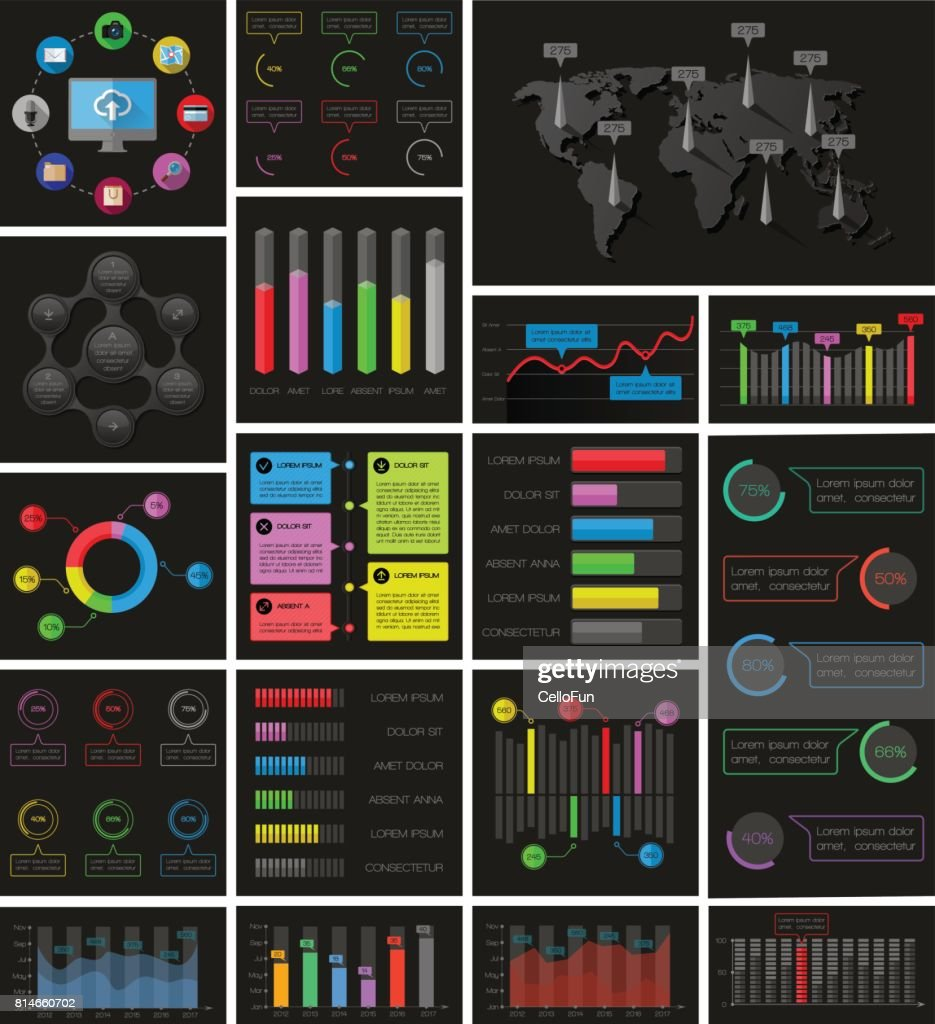 Ui, elements of infographics collection