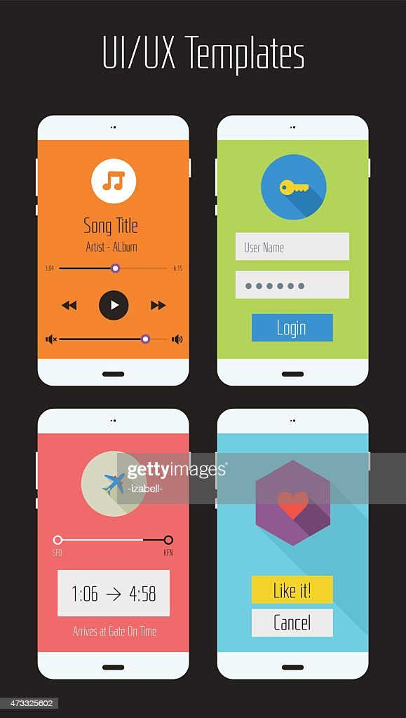 Ui or Ux mobile app kit graphics
