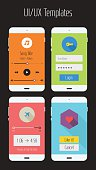 Ui or Ux mobile app kit graphics