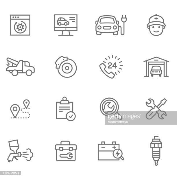 ui ux design - garage stock illustrations