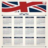 uk calendar for 2013