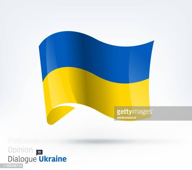 ukraine flag international dialogue & conflict management - ukraine stock illustrations
